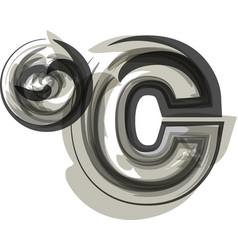 Abstract celcius symbol vector