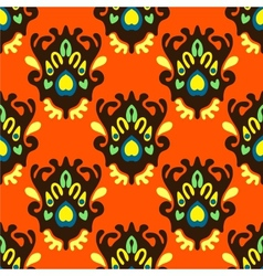 Seamless orange pattern vector