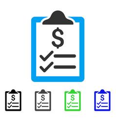 Invoice pad flat icon vector