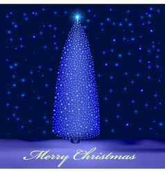 Background with illuminated christmas tree vector