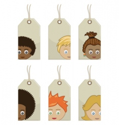 kids tags vector image
