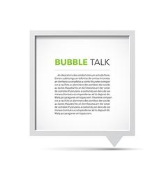 3d bubble talk frame vector