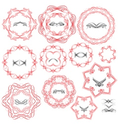 Ornament circle set 2 380 vector