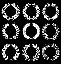 Wreath set black vector