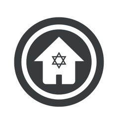 Round black jewish house sign vector
