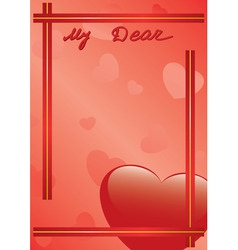 card my dear vector