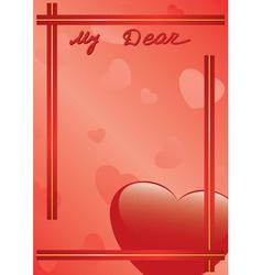 Vector card my dear vector