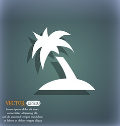 Palm tree travel trip icon symbol on the vector