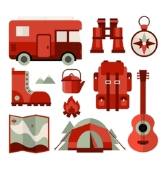 Mountain climbing hiking climbing and camping vector