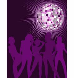 Disco girls silhouettes vector
