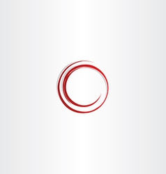 Round spiral red circle frame vector