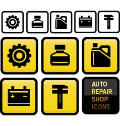 Auto repair shop icons vector