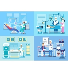 Medical examination doctor set concept medical vector