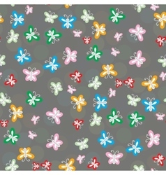 Seamless pattern of colorful butterflies vector