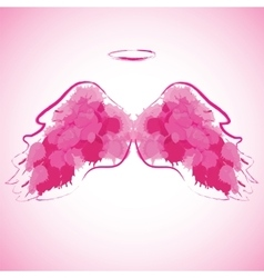 Angel nimbus and wings vector image
