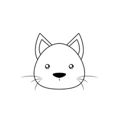 cat drawing face vector image vector image