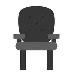 Cushioned armchair vector