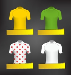 Cycling Jerseys vector image