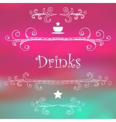 Drinks monograms lettering vector