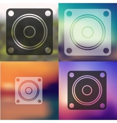 dynamic icon on blurred background vector image