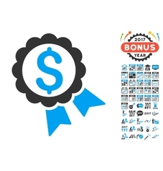 Featured price label icon with 2017 year bonus vector