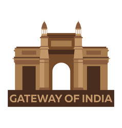 Gateway of india indian architecture mumbai vector
