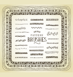 Handrawn pattern brushes vector