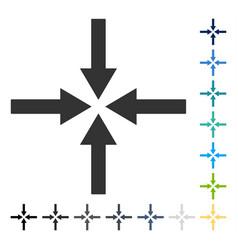 Impact arrows icon vector
