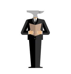 Man anvil businessman harsh boss incus manager vector