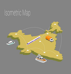 Map india isometric concept vector