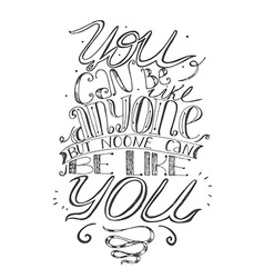 Motivating lettering about self-confidence and vector image vector image