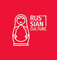 poster of russian culture isolated images vector image vector image
