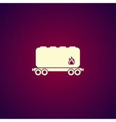Railroad tank icon vector