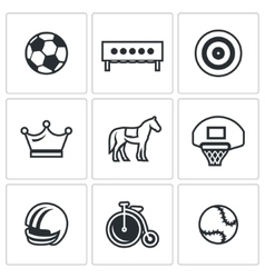 Set of Sport Icons Soccer Biathlon vector image vector image