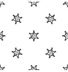sheriff star pattern seamless black vector image vector image