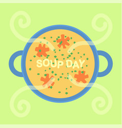 Soup day holiday vector