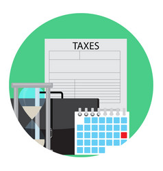 Time of payment of tax icon vector