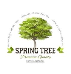 Tree typography logo vector