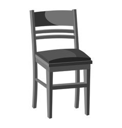 Wooden chair icon gray monochrome style vector