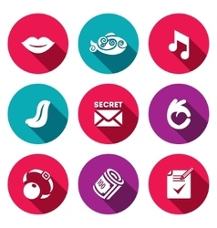 Set of silence icons muteness fish sound vector