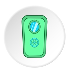 Door of safe icon cartoon style vector