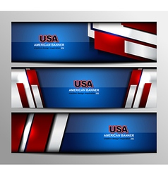 Usa color banner design vector