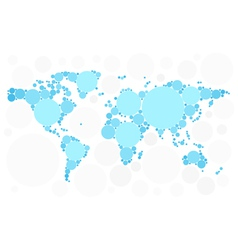World map of blue bubbles vector image