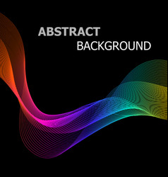 Abstract background with colorful line wave on vector