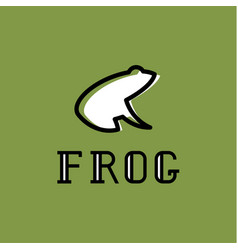 Frog logo sign mark trend vector