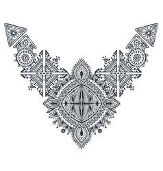 Tribal art boho hand drawn geometric pattern vector