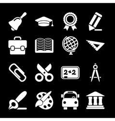White education icons vector