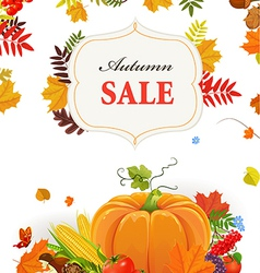 Autumn poster for your design vector