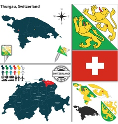 Map of thurgau vector