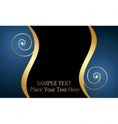 Decorative card or invitation vector